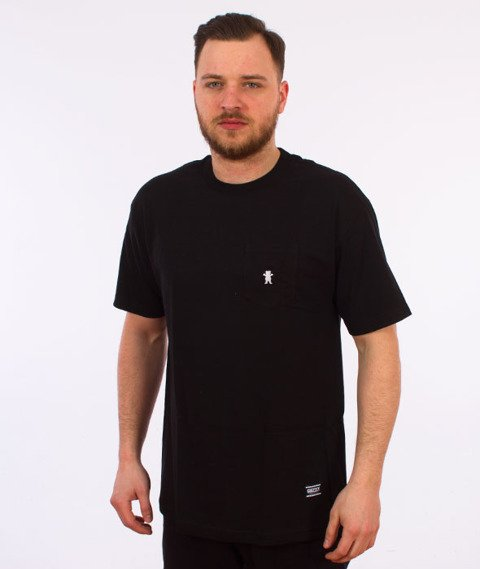 Grizzly-OG Embroidered Pocket T-Shirt Black