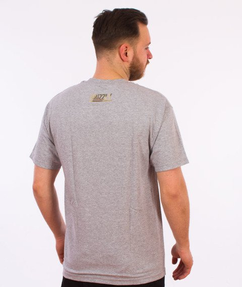 Grizzly-Sycamore Box Logo T-Shirt Heather Grey
