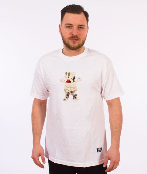 Grizzly-Trail Map OG Bear T-Shirt White