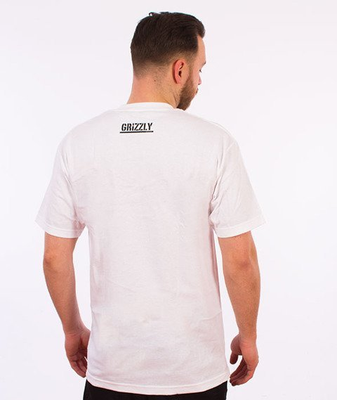Grizzly-Trail Map Pocket T-Shirt White