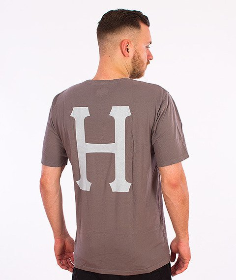 HUF-Classic H Pigment Dyed T-Shirt Grafitowy
