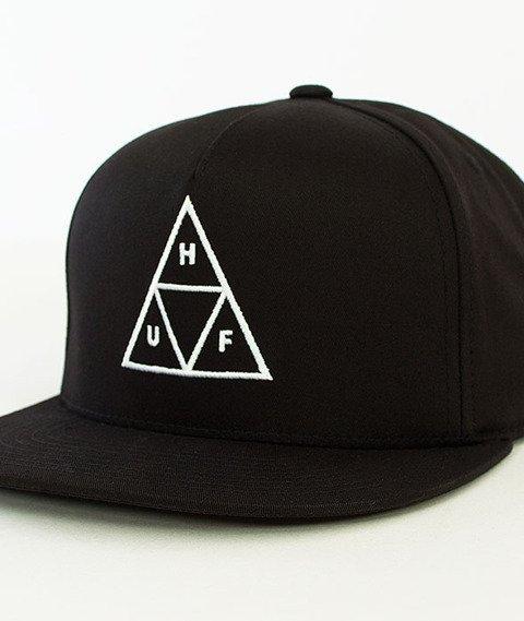 HUF-Triple Triangle Snapback Black