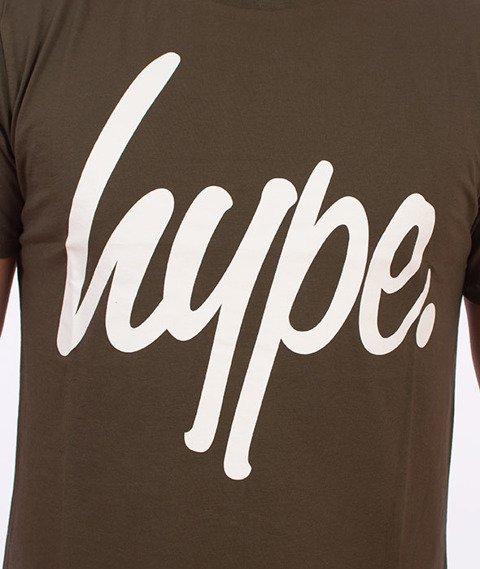 Hype-Basic Logo T-Shirt Khaki