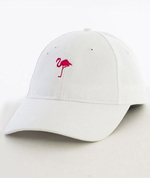 Hype-Flamingo Dad Hat Czapka Z Daszkiem White