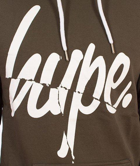 Hype-Smash Script Bluza Kaptur Khaki/White