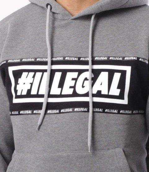 Illegal-Illegal Belt Bluza Z Kapturem Szary