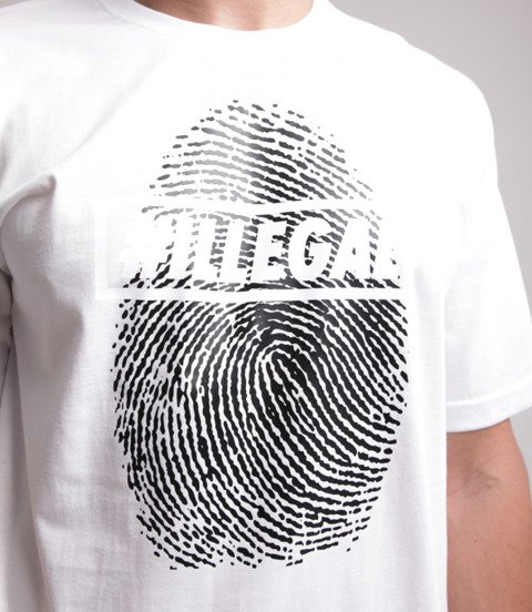 Illegal-Odcisk T-Shirt Biały