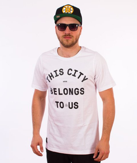 Intruz-This City T-Shirt Biały