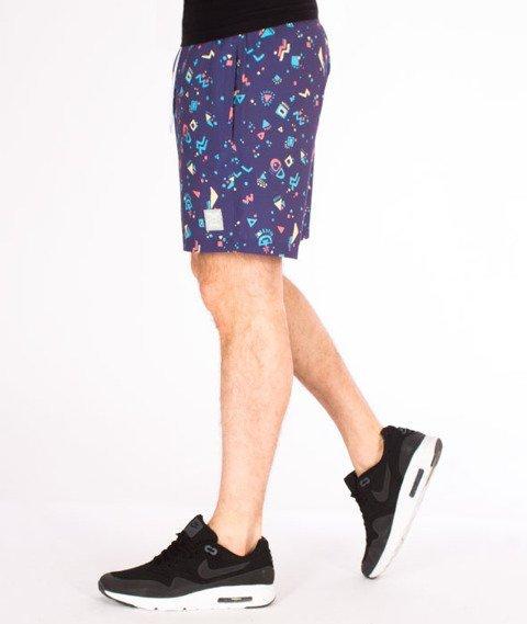 Iriedaily-Born In 90s Short Spodnie Krótkie Purple