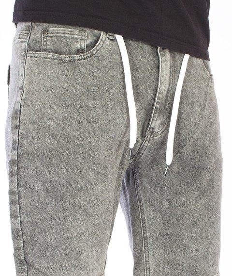 Iriedaily-Slim Short 2 Denim Grey Bleach Wash