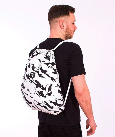 Koka- Naked Camo Back Bag White/Black