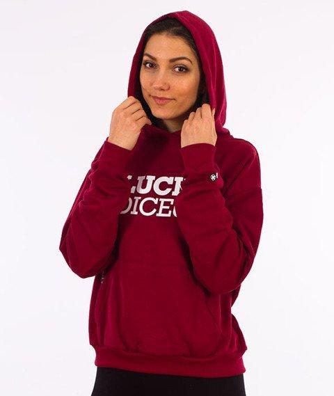 Lucky Dice-Classic Hoodie Girl Bluza Kaptur Damska Bordo