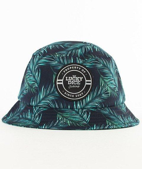 Lucky Dice-Green Leaves Summer Bucket Hat Multikolor