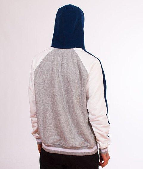 Lucky Dice-Hoodie Cut Colour Bluza Granatowa