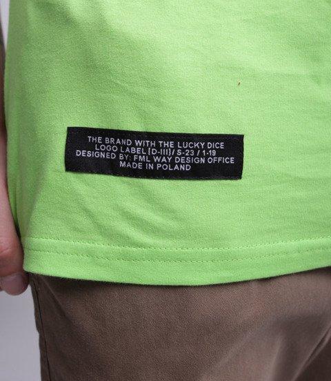Lucky Dice Logo T-Shirt Neonowy