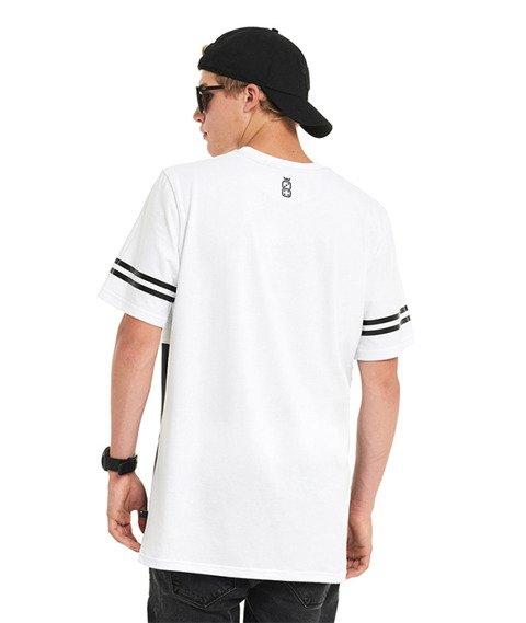 Lucky Dice-New College T-shirt Biały/Czarny