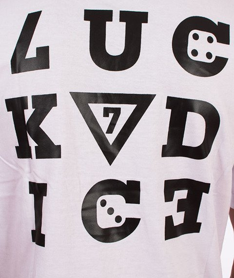 Lucky Dice-Nine Letters T-shirt Biały