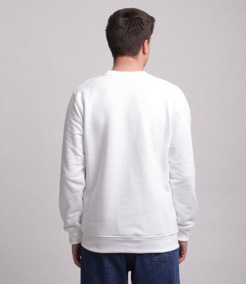 Lucky Dice Simple Dice Bluza bez kaptura Biały/Złoty