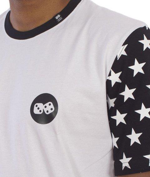 Lucky Dice-Stars T-shirt Biały/Czarny
