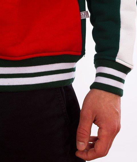 Lucky Dice-Stripes Crewneck Bluza Zielona/Czerwona