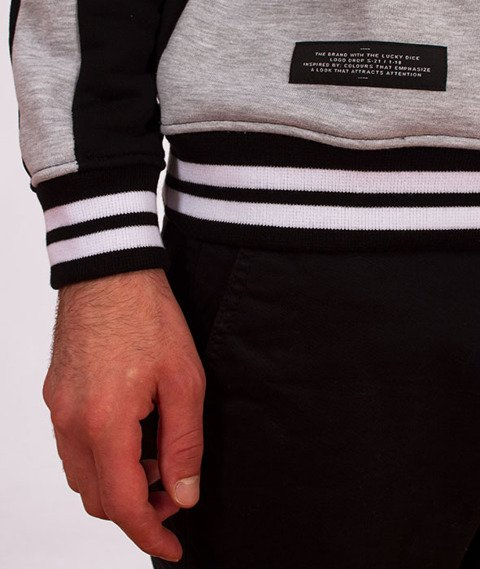 Lucky Dice-Stripes Crewneck Bluza Szary/Czarny/Biały