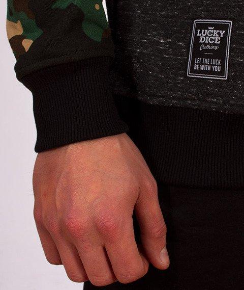 Lucky Dice-Stripes Raglan Crewneck Bluza Zielone Camo