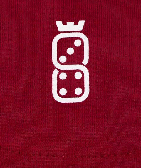 Lucky Dice-Tape LD Crewneck Bluza Damska Bordo