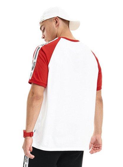 Lucky Dice-Tape T-shirt Biały/Czerwony