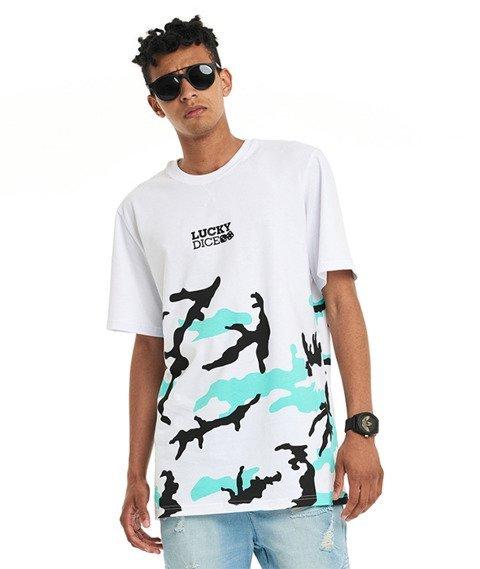 Lucky Dice-Urban Camo T-shirt Biały/Miętowy