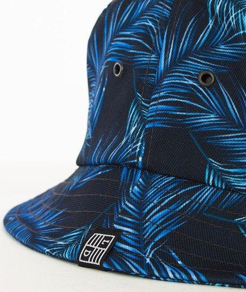 Lucky Dice-Violet Leaves Summer Bucket Hat Multikolor