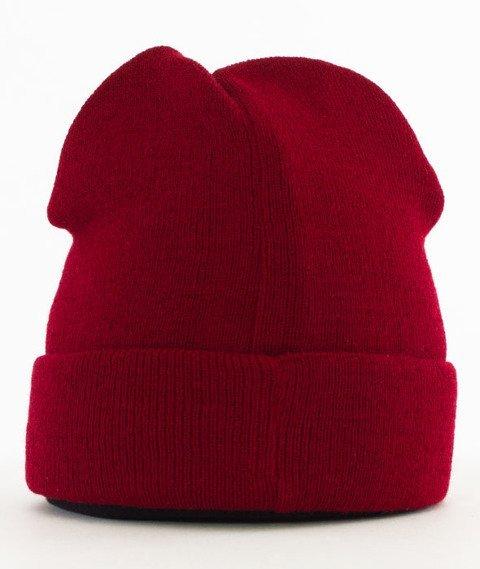 Lucky Dice-Winter Hat Beanie Bordowy