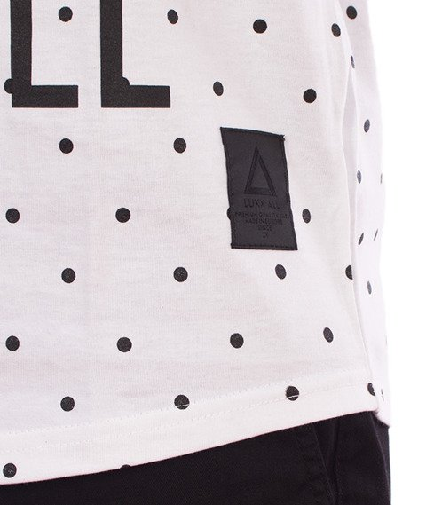 LuxxAll-Logo Dots Tank-Top Biały