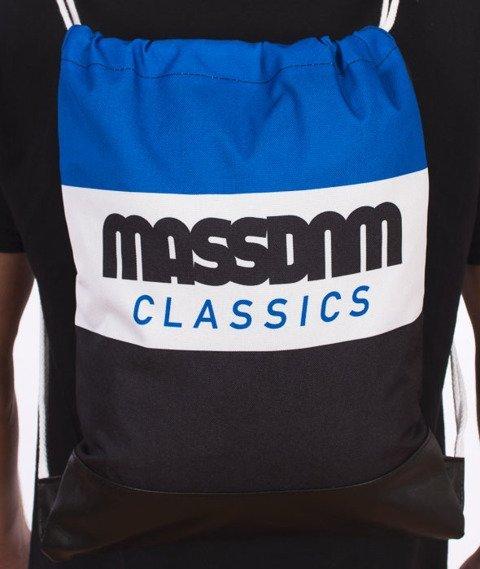 MASS-Classic Cut Gym Bag Worek Czarny/Biały/Niebieski