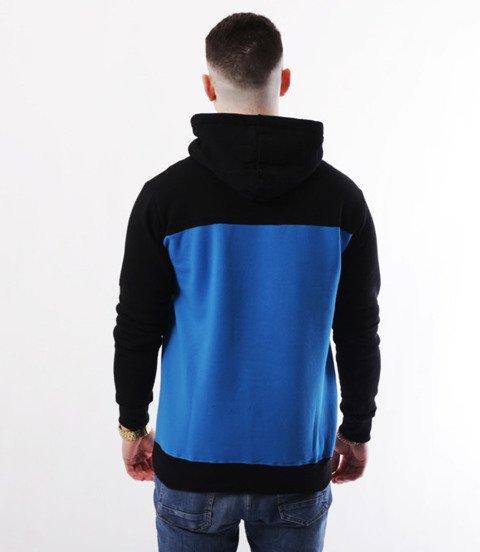 METODA -3 Colors Bluza Kaptur Czarno Niebieska