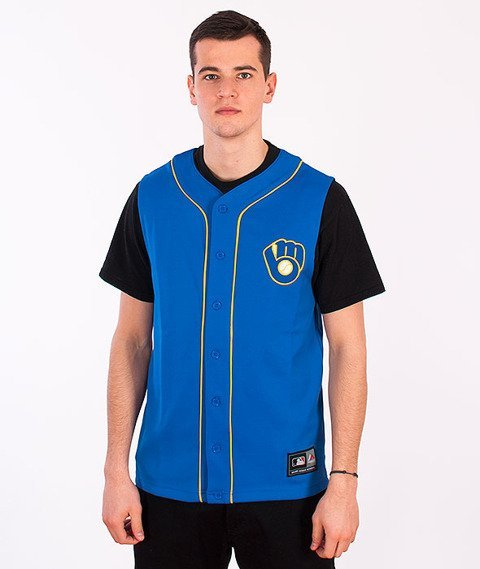 Majestic-Milwaukee Brewers Jersey Navy