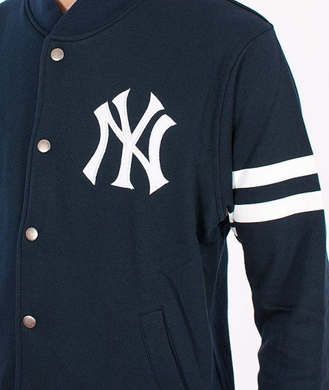 Majestic-New York Yankees Roper Fleece Letterman Navy