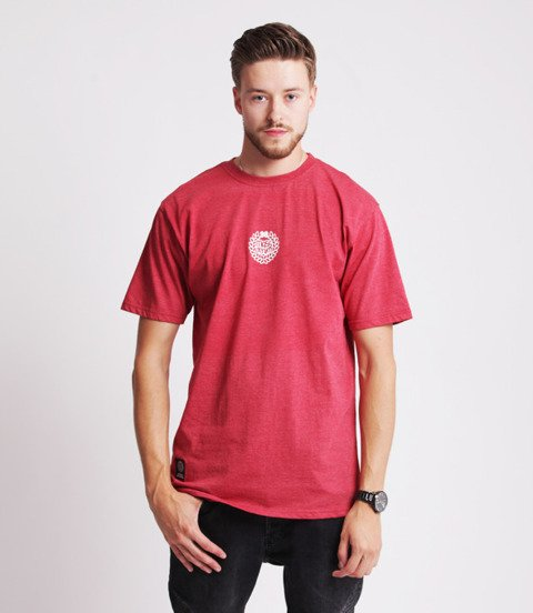 Mass BASE SMALL LOGO T-Shirt Melanż Bordowy