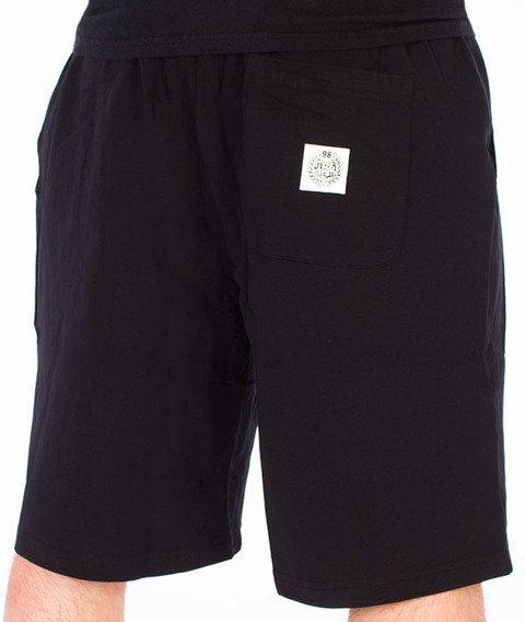 Mass-Base Spodnie Dresowe Krótkie Czarne
