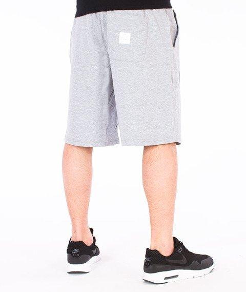 Mass-Base Spodnie Dresowe Krótkie Szare