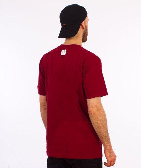 Mass-Base T-Shirt Bordowy