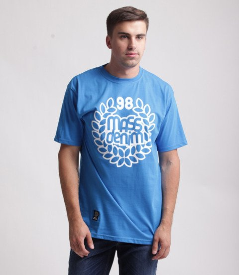 Mass Base T-Shirt Niebieski