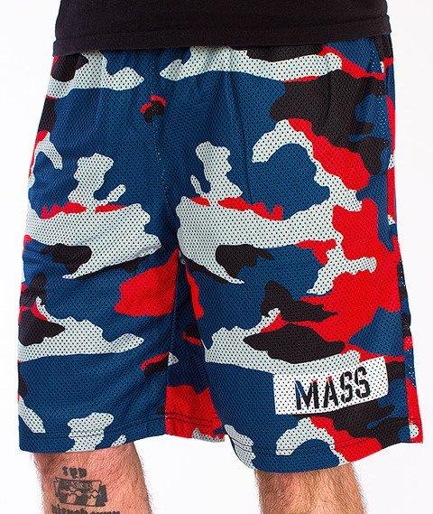 Mass-Battle Spodnie Krótkie Mesh Camo Granatowe/Czerwone