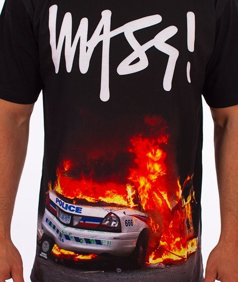 Mass-Burn B..tch T-shirt Czarny