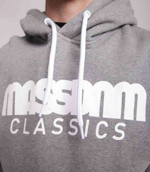 Mass CLASSICS Bluza z Kapturem Szary