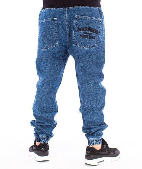 Mass-Campus Jogger Jeans Sneaker Fit Spodnie Blue