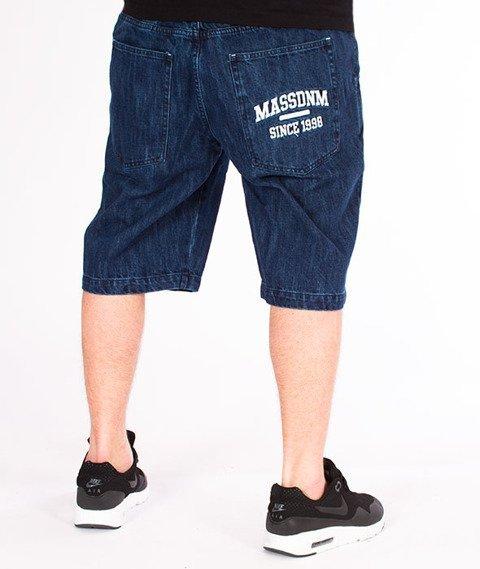 Mass-Campus Shorts Jeans Straight Fit Dark