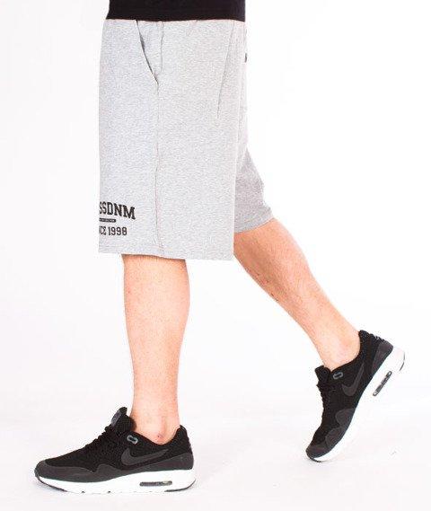 Mass-Campus Spodnie Dresowe Krótkie Light Heather Grey