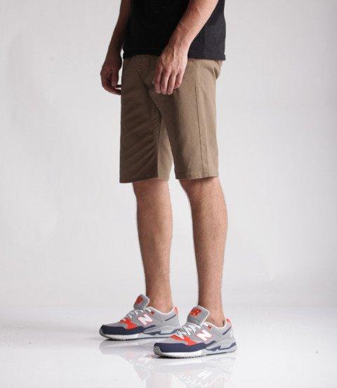 Mass Chino Classics Straight Fit Spodnie Krótkie Beige