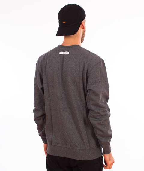 Mass-Classics Crewneck Bluza Dark Heather Grey