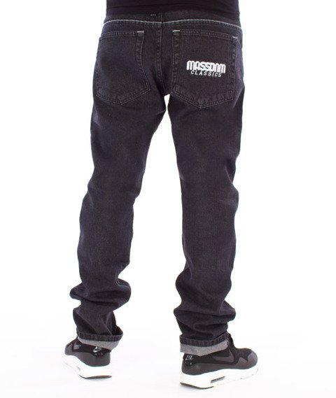Mass-Classics Straight Fit Jeans Black Rinse